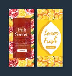 Flyer design with fruits themed creative lemon vector
