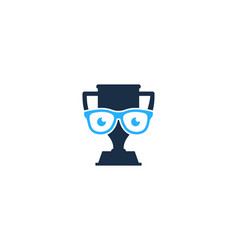 geek trophy logo icon design vector image