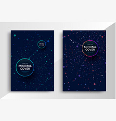 Geometric minimal covers design round dots shapes vector
