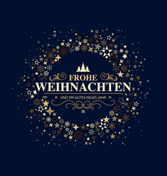 German dark christmas card vector