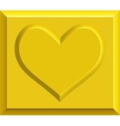 Gold heart bullion vector