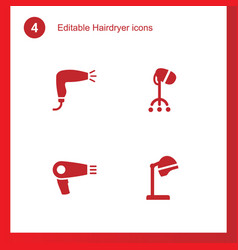 Hairdryer icons vector