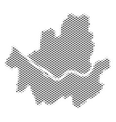 Halftone gray seoul city map vector