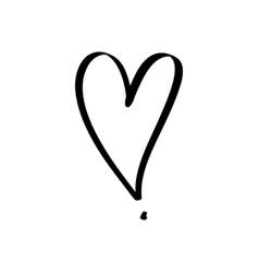 Hand drawn heart love symbol expressive shape vector