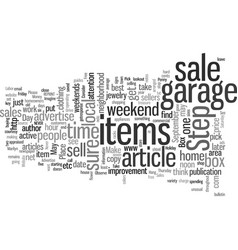 How to make money with garage sales vector