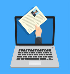 Human resources online job application vector