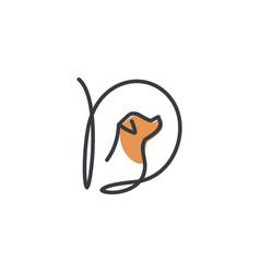 Initial mono-line d dog vector