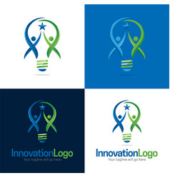 Innovation logo and icon vector