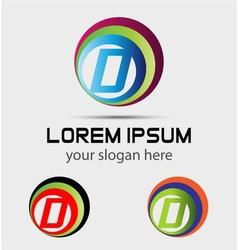 Letter D logo element vector