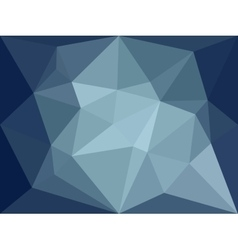 low poly background Dark blue polygonal vector image