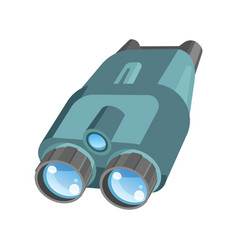 Pair of binoculars with powerful zoom and shiny vector