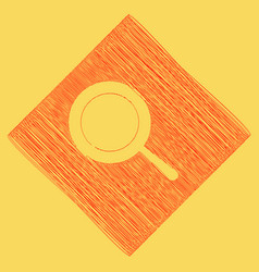 Pan sign red scribble icon obtained as a vector