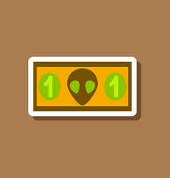 Paper sticker on stylish background currency cash vector