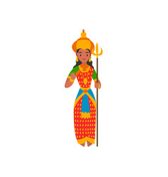 parvati indian goddes on a vector image