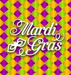 Pattern Background with Ornamental Text for Mardi vector