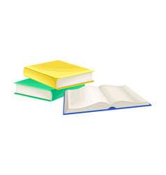 Pile books as manufactured product vector