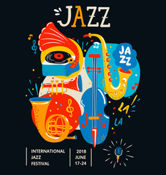 Poster for jazz vector