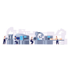 Production line manufacturing conveyor belt vector
