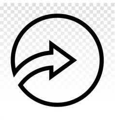 Rounded right arrow or next buttons - line art vector