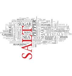 Salt word cloud concept vector