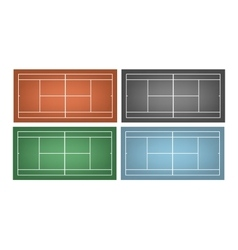 Set of tennis courts vector