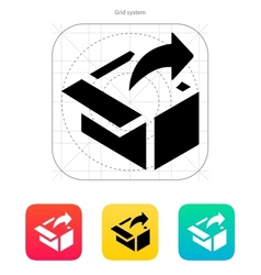 Share from box icon vector image