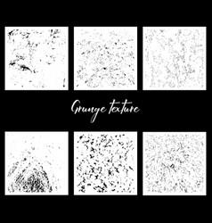 six grunge textures vector image