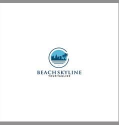 skyline logo design template idea vector image
