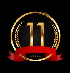 Template logo 11 years anniversary vector