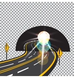The road to the future passes through the tunnel vector