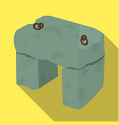 The stone seatancient chair ancient scots vector