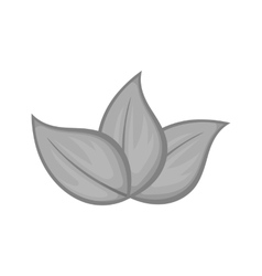 Three leaves icon black monochrome style vector image