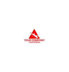 Triangle ant logo design vector
