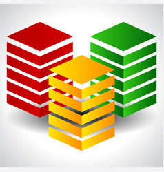 Tricolor abstract towers eps 10 vector