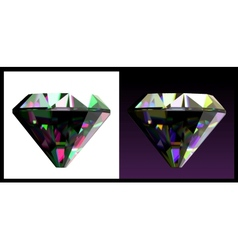 Two of jewelry gems vector image