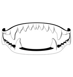 vampire fang toy silhouette vector image