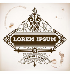 Vintage label premium vector