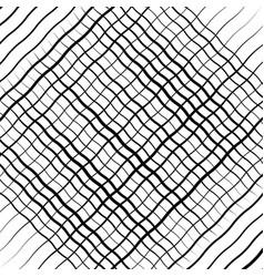 Wavy waving zigzag lines crosshatch grid mesh vector
