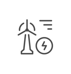 wind power line icon vector image