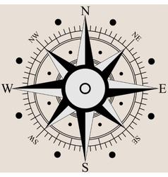 Wind rose compass flat symbols vector