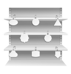 wobbler shelves promotion advertising informing vector image