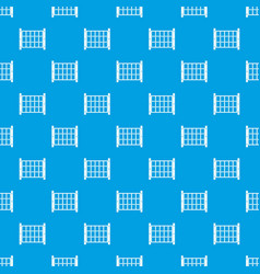 Yard fence pattern seamless blue vector