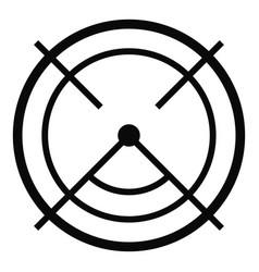 aim radar icon simple style vector image