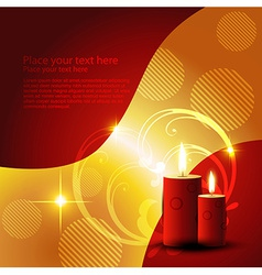 candle design vector image