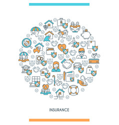 concept on theme insurance vector image
