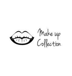 Make Up Collection Monochrome black and white lips vector image vector image