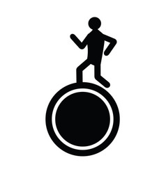 man running above a wheel vector image