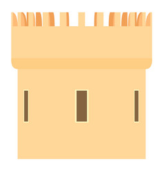 medieval tower icon cartoon style vector image