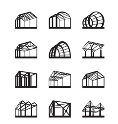 Metal structures in perspective vector image vector image