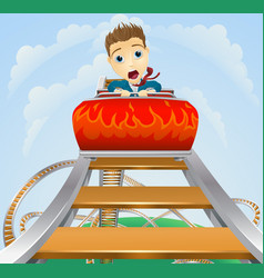 business roller coaster ride concept vector image vector image
